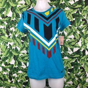 5 for $25 Nike Blue Aztec Print T Shirt